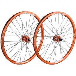 """MTB MTB/Hjul """"Spank Spoon Hjulset 26"""""""" Orange (135x12mm)"""""""