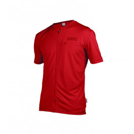 "MTB MTB/​Kläder MTB/​POC ""Trail Light Zip Tee Pewter Red"""