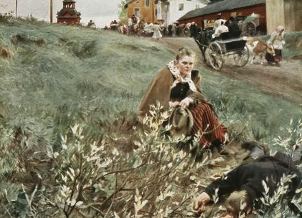 Anders Zorn - Julstamning Fototapeter & Tapeter 100 x 100 cm