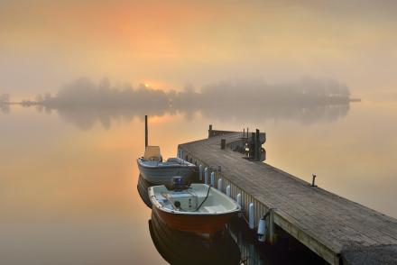 Boatlife in Stockholm Archipelago Fototapeter & Tapeter 100 x 100 cm