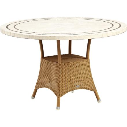 Lansing matbord Ø 120 cm - Travertin