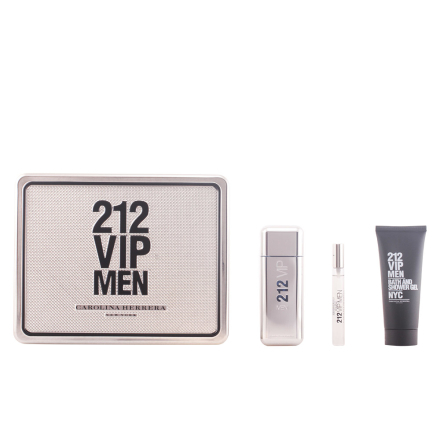 Carolina Herrera 212 Vip Men Bundle Pack 3pcs. Eau De Toilette Vaporizer