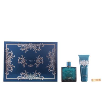 Versace Eros Bundle Pack 3pcs. Eau De Toilete Vaporizer 100 Ml