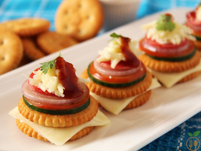 Monaco Biscuit Canapes | Monaco Toppings