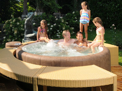Magisk Pool & Spa Softub Resort 300+ Mocka/Pearl
