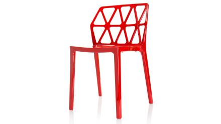 Dalmatinern - Stol i polykarbonat - Röd