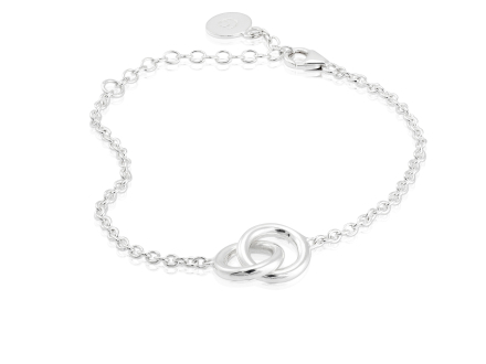 The Knot armband silver