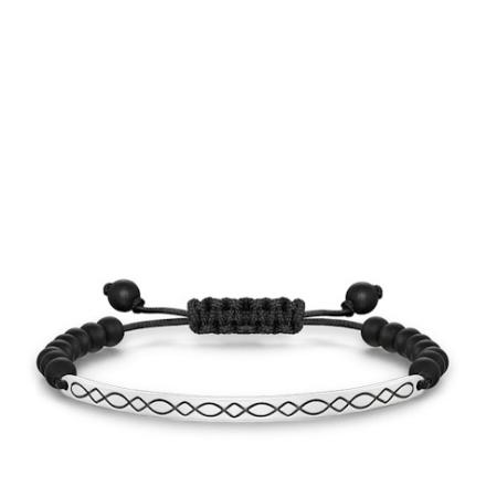 Love bridge svart mönster obsidian - 21 cm