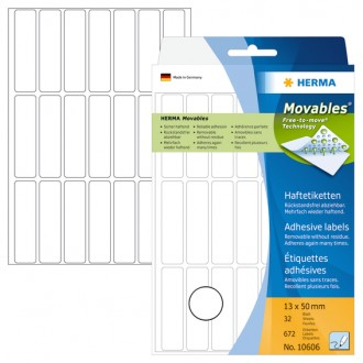 Manual Labels HERMA Movables 13x50 white