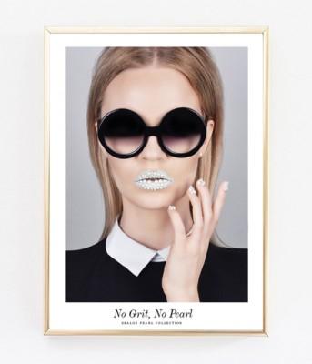 Poster - No Grit, No Pearl (30x40 cm)