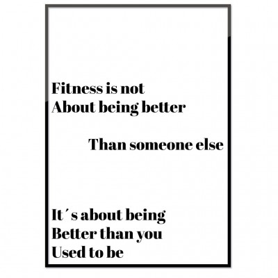 Poster - Fitness is not (30x40 cm)