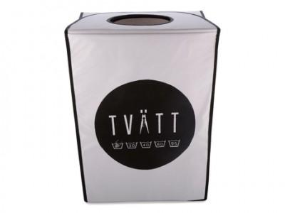 Tvättpåse - Klämma, vit/svart