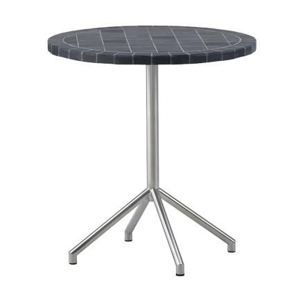 Avenue cafébord rostfritt stål - Rostfritt stål