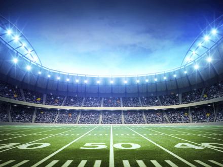 Light of American Stadium Fototapeter & Tapeter 100 x 100 cm