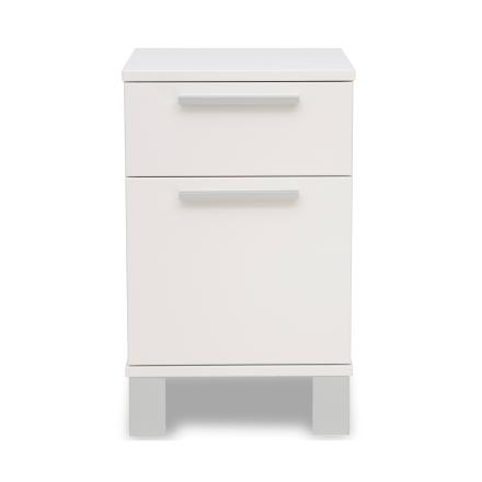 Alba sängbord 2 lådor vit