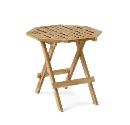 Kos sidobord åttakantigt 50 cm teak
