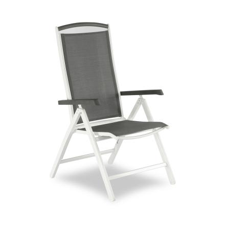 Andy positionsstol vit/grå med armstöd i nonwood