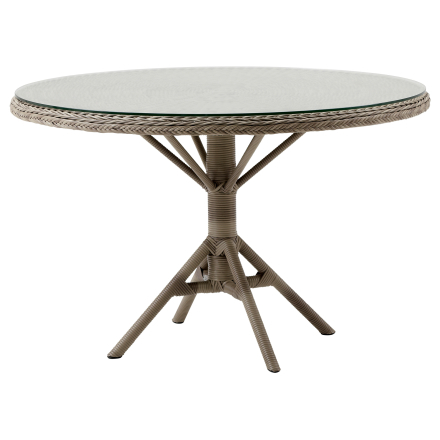 Grace matbord antik Ø120 cm inkl. glas