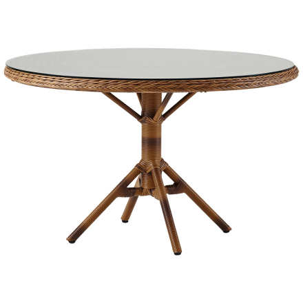 Grace matbord kastanj Ø120 cm inkl. glas