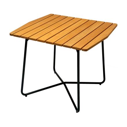 B30 bord oljad ek med mörkgrönt stativ 84×92 cm