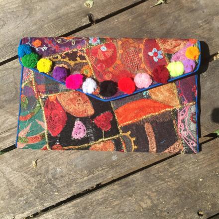 Bohem Väska Clutch - Unik handgjord Patchwork