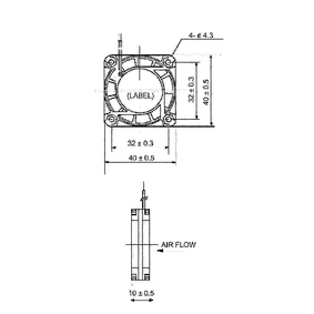 ;Sunon Axial Fläkt DC 40 x 40 x 10 mm
