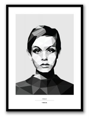 Poster - Twiggy 50x70 cm