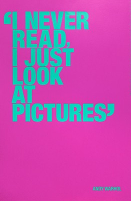Poster - Andy Warhol Special Edition - I never read 97x64 cm