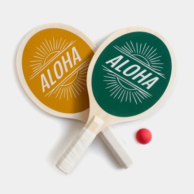 Surf 'Aloha' Paddle Beach Ball Game Set
