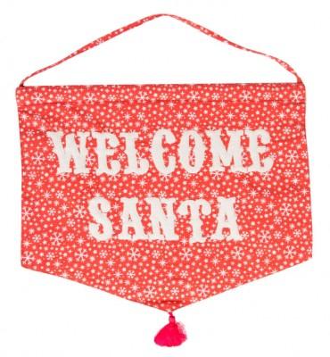 "Väggbonad - ""Welcome Santa"