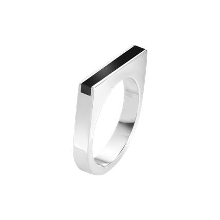 Aria smal ring onyx - 60