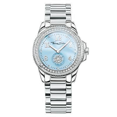 Glam chic blå klocka