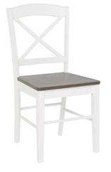 Merida stol med eksits - Vit / Grå