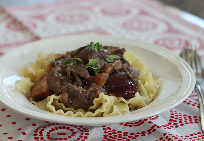 Braised Venison with Plums #SundaySupper