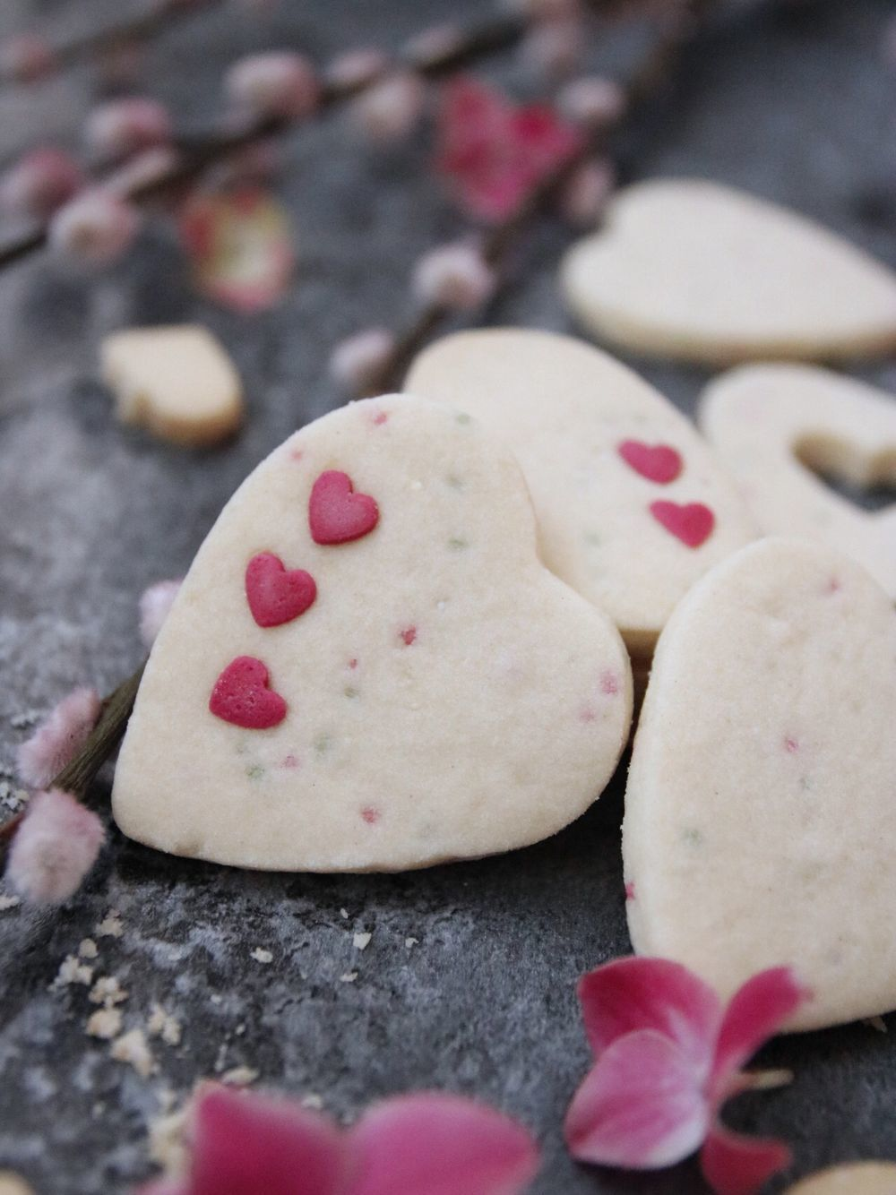 Spröda och enkla smörkakor till Alla Hjärtans Dag