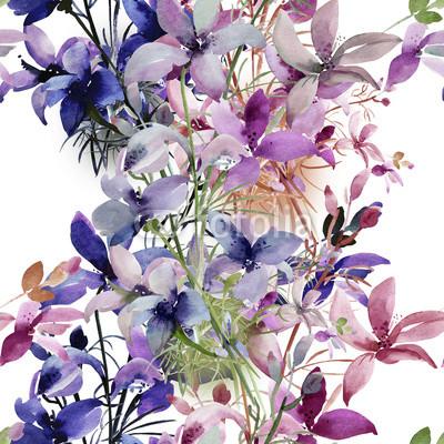 Lila blomranka