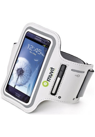 Muvit Sportarmband Smartphone XL for Samsung Galaxy SIII (136.6 x 70.6 x 8.6 mm) - White