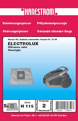 Dammsugarpåsar till Electrolux Ultraone Mini och Electrolux Umorigin