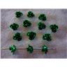 Aluminium Flower Beads 6x4.5mm 25 st ** grön