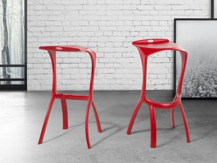 Barstol röd - matstol - matsalsstol - BROOME