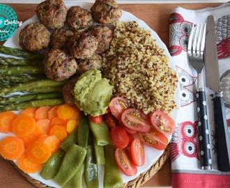 Recetas de albondigas de quinoa mytaste for Cocinar quinoa al vapor