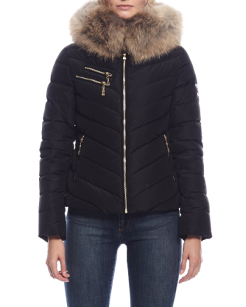 Chatel gold zip black jacket