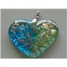 Vackert Glashänge - Hjärta - Grönt & Blått - Modell 469