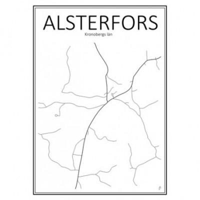 Stadskarta - Kronobergs län (Markaryd,30x40 cm)