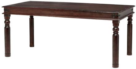 Bombay matbord 180x90 cm runda ben