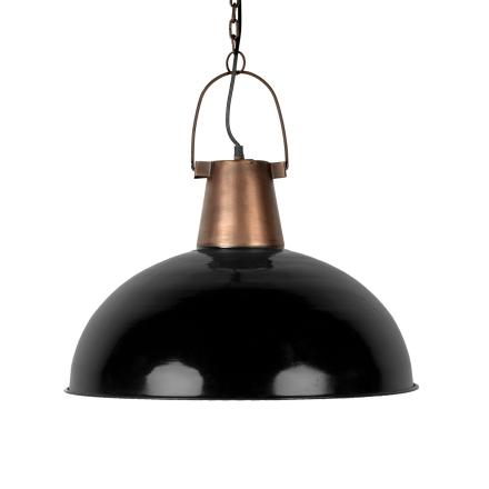 Taklampa koppar/svart 50