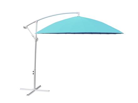 Sidohängt parasoll Shanghai - Mint / Turkos