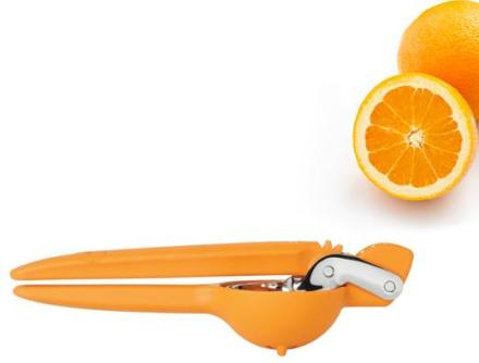 Apelsinpress med utväxling, orange