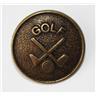 )Knapp i Antik Guld metall Golf 15mm