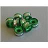 500st Aluminium Pärlor 6mm- Gröna - Modell 6557